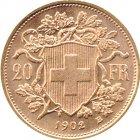 Kleines Bild von Vreneli 20 SFRs 1902 Gold