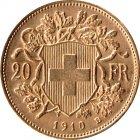 Kleines Bild von Vreneli 20 SFRs 1910 Gold