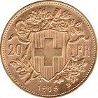 Bild von Vreneli 20 SFRs 1915 Gold