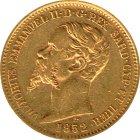 Kleines Bild von Vittorio Emanuele II Sardinien 20 Lire Gold