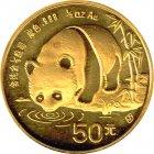 Kleines Bild von Panda 1987 1/2oz Gold