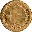 Kleines Bild von Helvetia 20 SFRs. 1896 Gold