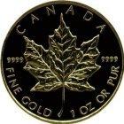 Kleines Bild von Maple Leaf 1 Unze Gold (akt. Jahrgang)