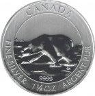 Kleines Bild von Maple Leaf 2013 1,5oz Silber - Polarbär