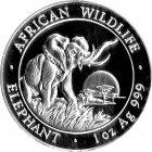 Kleines Bild von Somalia Elefant 1oz Silber 2009