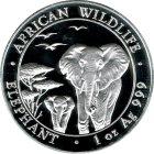 Kleines Bild von Somalia Elefant 1oz Silber 2015