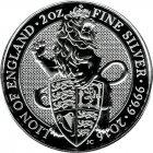 Kleines Bild von Queens Beast Lion of England 2016 2oz Silber