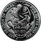 Kleines Bild von Queens Beast Red Dragon of Wales 2017 2oz Silber