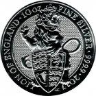 Kleines Bild von Queens Beast Lion of England 2017 10oz Silber