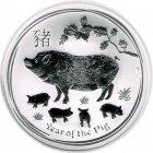 Kleines Bild von Lunar II Schwein 2019 1kg Silber