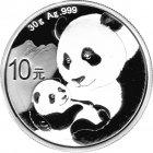 Kleines Bild von Panda 2019 30g Silber