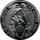 Kleines Bild von Queens Beast Yale of Beaufort 2019 2oz Silber