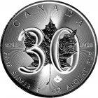 Kleines Bild von Maple Leaf 2018 1oz Silber - Privy 30 Jahre