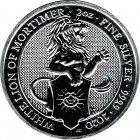 Kleines Bild von Queens Beast White Lion of Mortimer 2020 2oz Silber