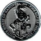 Bild von Queens Beast White Horse of Hanover 2020 2oz Silber